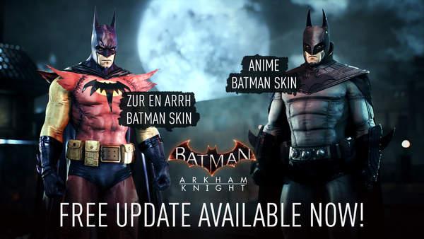 《蝙蝠侠阿卡姆骑士》Steam版移除D加密 同时新增两款免费皮肤