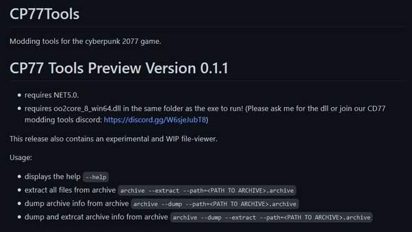 《赛博朋克2077》民间Mod工具出现 可帮助玩家解压缩并提取文件