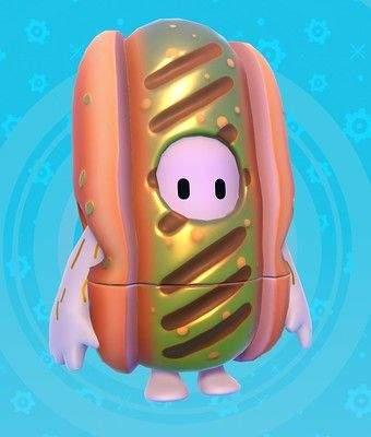 《糖豆人:终极淘汰赛》传奇皮肤公布 金光闪闪的热狗