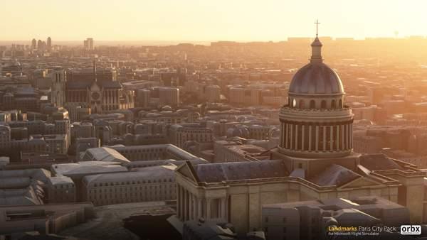 《微软飞行模拟》巴黎插件包效果预览 丰富巴黎地区景观效果