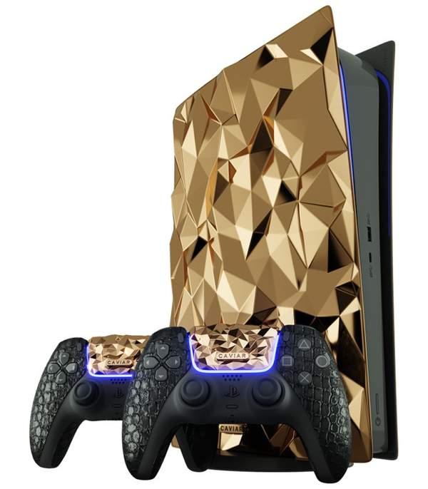 极尽奢华!俄厂商Caviar黄金PS5设计方案:20KG黄金、真皮手柄