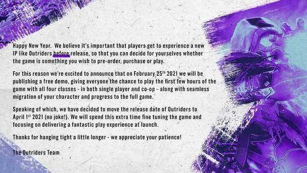 多人射击游戏《先驱者》再次延期 将会在2月底提供免费版供玩家体验