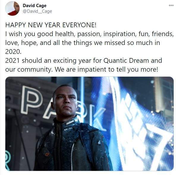 《底特律:变人》总监发新年祝福 2021迫不及待想要告诉大家更多
